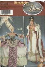 7025 UNCUT Simplicity Sewing Pattern Fashion Doll Clothes Victorian Era ... - $14.99