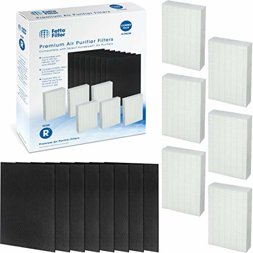 Fette Filter - Premium HEPA Replacement Filter 6 Pack Including 8 Precut Activat