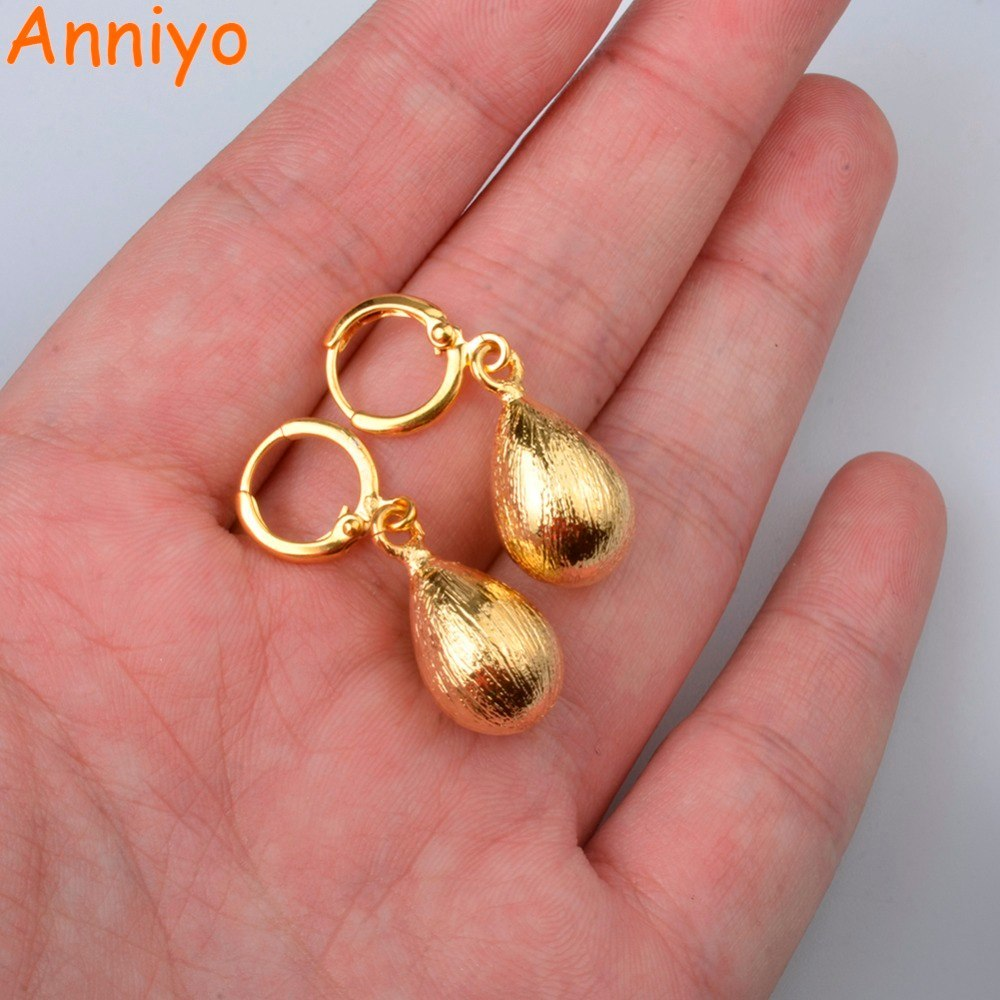 Primary image for Water Drop Earrings for Women/Girl.Gold Color Ethiopian Trendy