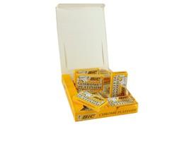 100 BIC CHROME PLATINUM DOUBLE EDGE RAZOR BLADES - $15.40
