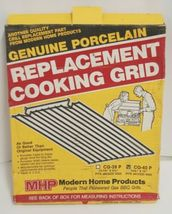MHP CG40P Genuine Porcelain Replacement Cooking Grid Set of 2 Color Black image 3