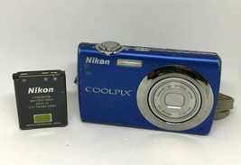 Nikon Coolpix S220 12.0MP Digital Camera Blue For Parts Only   - $9.49