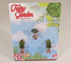 Fairy Garden Mini Furniture Leaf Table 2 Chairs Accessories New - $3.99