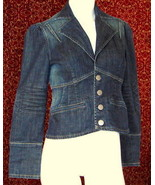 DKNY JEANS denim fitted jacket S (T19-02J8G) - $19.78
