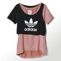 ADIDAS Under LAYERED Tee TOP S14591 Ash Pink / Black SHIRT Logo ( S ) - $69.97
