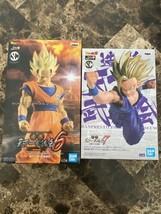 Son Goku Super Saiyan 2 Statue Dragon Ball  Z And Gohan Statue Exclusive Bandai - $79.19