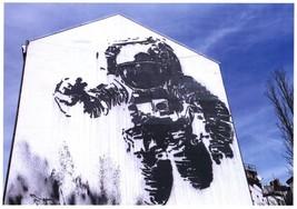 NASA Astronaut Spaceman German Street Art Graffiti Painting Postcard - $8.99