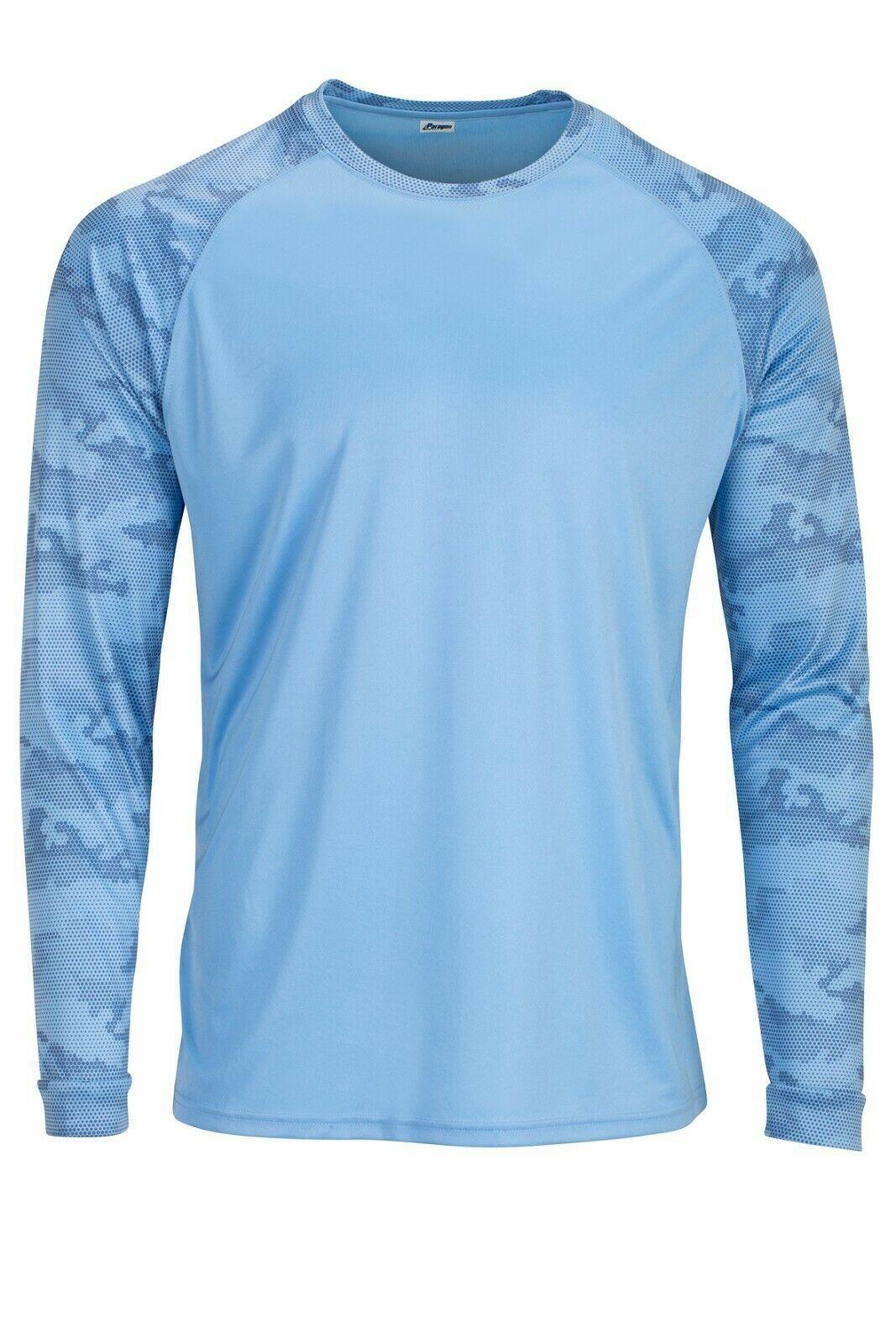 Sun Protection Long Sleeve Dri Fit Blue sun shirt Camo Sleeve base layer SPF 50+