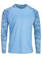 Sun Protection Long Sleeve Dri Fit Blue Mist sun shirt Camo Sleeve SPF 50+ image 1