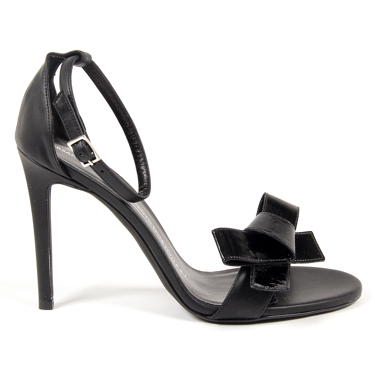 Primary image for V 1969 Italia Womens Ankle Strap Sandal Black BEATRIZ