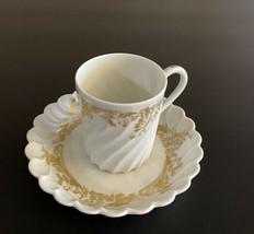 Haviland Limoges France ~ Ladore White/Gold  ~ Demitasse Cup & Saucer  - $9.90