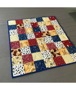 Handmade Quilt Baby Lap Quilt Western Cowboy Print 36 X 31 - $37.99