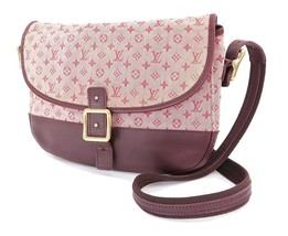 Authentic LOUIS VUITTON Berangere Red Monogram Mini Lin Shoulder Bag #31981 - $375.00