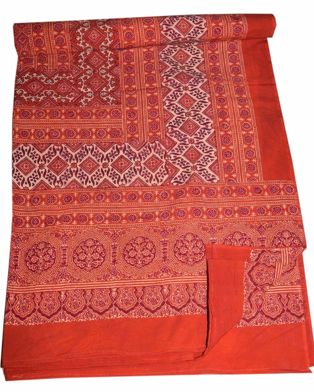 Ajarak print cotton queen bed sheet cover wall hanging for Fomic sheet wall hanging