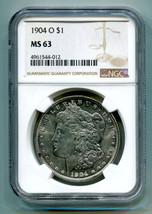 1904-O MORGAN SILVER DOLLAR NGC MS63 NICE ORIGINAL COIN FROM BOBS COIN F... - $69.00