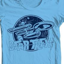 Star Trek Enterprise T-shirt original series cotton Kirk Spock blue tee CBS936 image 2