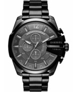 BRAND NEW DIESEL MEGA CHIEF DZ4355 BLACK STAINLESS STEEL CHRONOGRAPH MEN... - £128.66 GBP