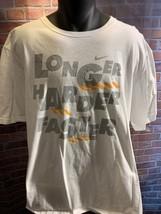 Nike Long Plus Difficile Faster Blanc Gris T-Shirt Orange Taille 3XL - $20.84