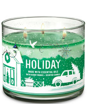 Bath & Body Works Holiday Three Wick 14.5 Ounces Scented Candle - $22.49