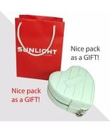 Faux Leather Zip Box For Jewelry Heart Girl Woman Gold Rings Bracelets N... - $7.00