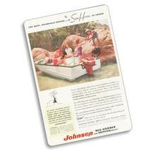 1956 Johnson Sea-Horse Boat & Motor Magazine Advertising Design Aluminum... - $15.79