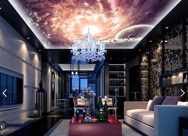 Primary image for 3D Shining Star Planet WallPaper Murals Wall Print Decal Deco AJ WALLPAPER GB3