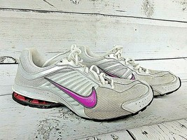 Nike Reax Run 4 Athletic Women's Running Shoes Size 9.5 Silver & Purple ... - $28.45