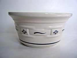 """Longaberger Pottery Woven Traditions Bowl Blue & White 5.75"""" - $14.80"""