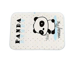 Cartoon Panda Pattern Baby Infant Urine Mat Cover Bed Diaper Changing Pad, BLUE