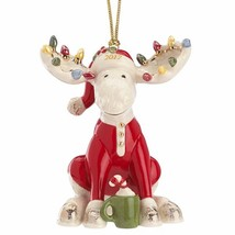 Lenox 2017 Moose Ornament Figurine Annual Marcel The Bedtime PJ's Christ... - $37.13
