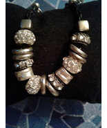 Beads , Silver Tone With Rhinestones  - $2.00