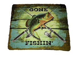 Gone Fishin Fishing Bass Fish 50x60 Polar Fleece Blanket Throw - €12,06 EUR