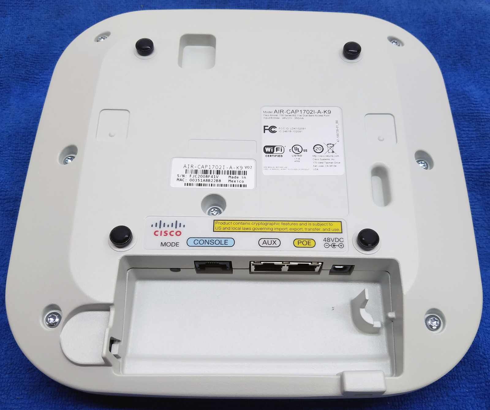 Cisco Aironet 1700 Series Air-Cap1702I-A-K9 Bin:2