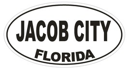 Jacob City Florida Oval Bumper Sticker or Helmet Sticker D2639 Euro Oval Decal - $1.39+