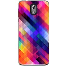 Stripes obliquely multicolored Nokia 3.1 2018 Phone Case - $15.99