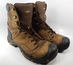 "Keen Mt. Vernon 8"" Size 9.5 2E WIDE EU 42.5 Men's Steel Toe Work Boots 1013257EE"