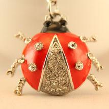 Small Ladybug Fashion Keychain Rhinestone Crystal Charm Bugs Insects  #M... - $18.17