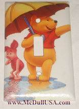 Winnie the Pooh & Piglet Light Switch Duplex Outlet wall Cover Plate Home decor image 1
