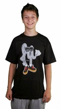 In4mation HI Guy Black Or White Cotton Graphic Tee Short Sleeve Fashion T-Shirt image 2