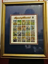 LEGENDS OF BASEBALL STAMP SHEET SET w/ GOLD FRAME #3408 USPS Mint Origin... - $16.78