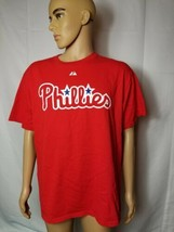 Philadelphia Phillies Jimmy Rollins Jersey Shirt Red MLB Baseball Majest... - $29.39