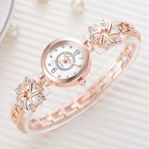 Lvpai® Watch Women Fashion Luxury Bracelet Silver Rose Gold Rhinestone Creative image 3