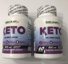 RELIANT KETO BHB Diet Pill Ketones Ketogenic Weight Loss Fat Burn 800mg ... - $13.85