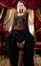 Brown Velvet Openbust Gothic Victorian Steampunk Officer Crop Jacket Tai... - $96.87