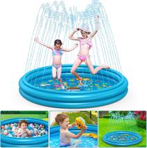 3-in-1 Splash Pad Premium Sprinkler for Kids Durable PVC Fun Outdoor Sum... - $31.99