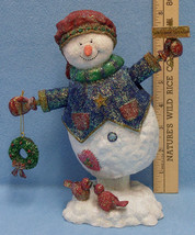 Snowman Music Box Plays Welcome Winter Wonderland Francisco Co Resin - $23.75