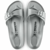 Birkenstock Womens Madrid Eva Metallic Silver Comfort Sandals Shoes Size 1003493 - $79.99