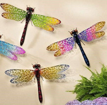 """24"""" Wide Dragonfly Metal Wall Decor Expansive Wing Display Color Choices"""