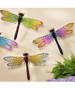 """24"""" Wide Dragonfly Metal Wall Decor Expansive Wing Display Color Choices - $39.99"""