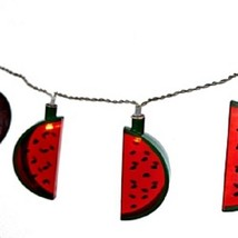 Watermelon Slices Plastic Battery Operated Party String Lights 10 Count ... - $16.82